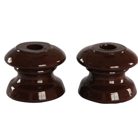 High Quality Best Price Pin Type Electrical Ceramic Spool Porcelain Shackle Brown Insulator for Low Voltage