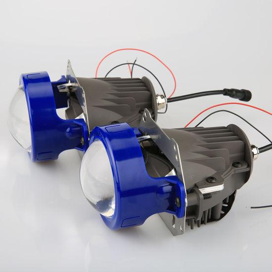 New 10-18V 5500K Bi LED Projector Retrofit Headlight Lens LED Headlights  Bulb