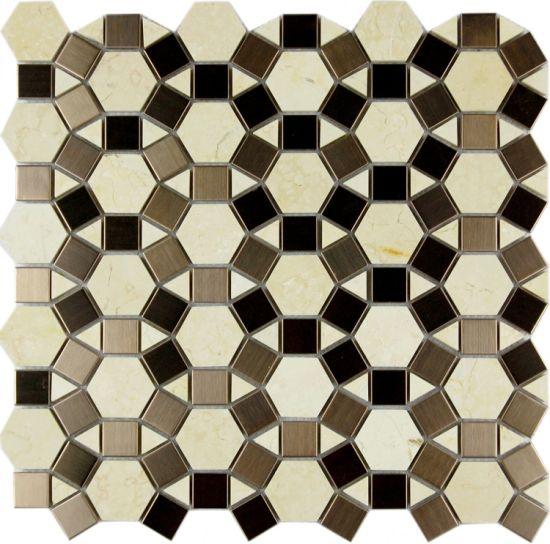 China Latest New Decorative Wall Glass Tile Stone Mosaic - China ...