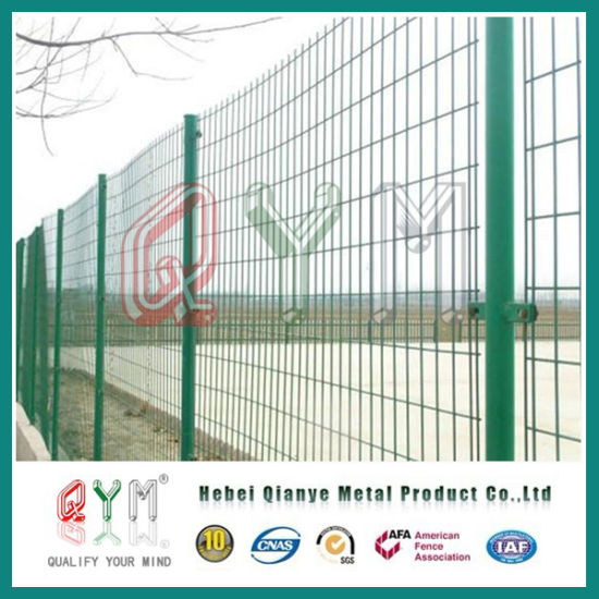 China Ornamental Double Loop Wire Fence Designs / Powder Coated 656 ...
