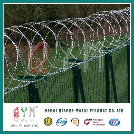 China Razor Barbed Wire Mesh Fence/Military Concertina Razor Barbed ...