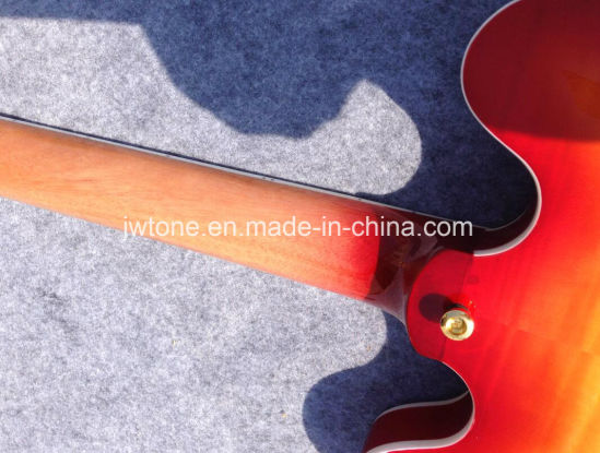 Cherryburst Semi Hollow Body Jazz 335 Electric Guitar pictures & photos