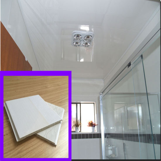 6/7/8/9*200mm Glossy White PVC Wall Panel Bathroom Wall Panel Builing Waterproof Material pictures & photos