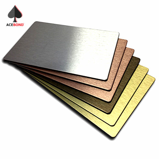 Color Brush Surface Acm Sheet Aluminium Composite Panel for Exterior Wall