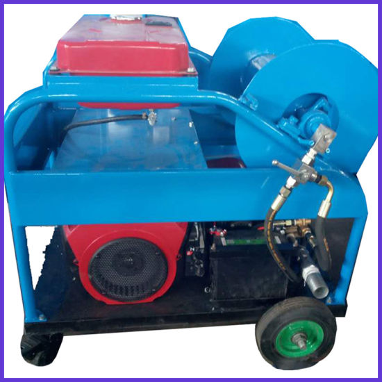 24HP Gasoline Engine High Pressure Sewer Drain Cleaning Machine