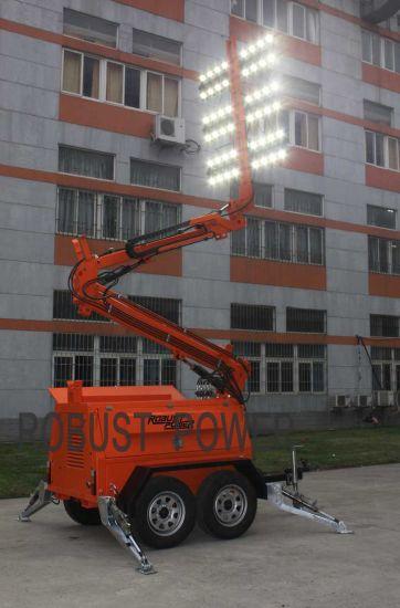 OEM Kubota 10m Hydraulic Mast Mobile Mining Lighting Tower