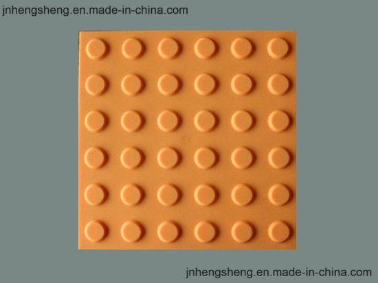 Anti-Slip Rubber Flooring Tile Warning Tactile Paving Tile