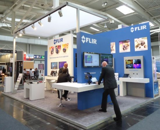 Square Extrusion Trade Booth Exhibition Display Stand