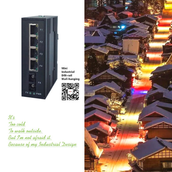 High-speed stable 4 GE ports Industry Switchs for Monitoring System pictures & photos