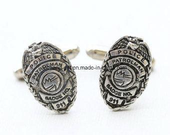 Customized Fashion Promotion Round Metal Brass Cufflinks with Enamel Logo