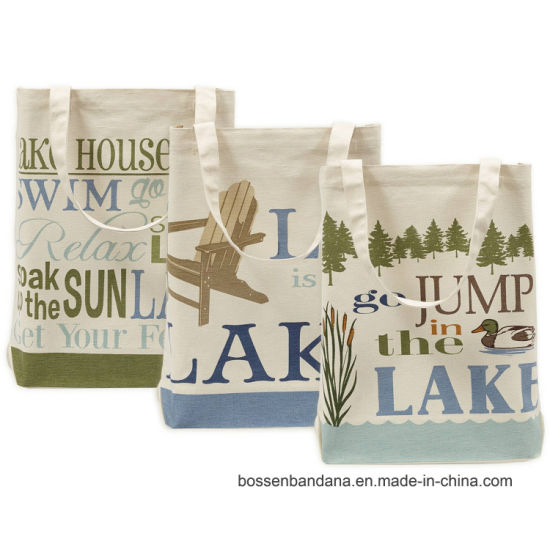 Custom Made Logo Printed Cotton Canvas Colorful Promotional Shopping Craft Totes Bag pictures & photos