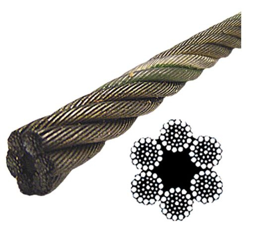 China Ungalvanized 6*37 Fiber Core Wire Rope with Factory Price ...