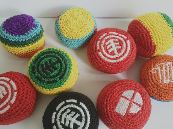 Customized Promotional Gift Woven Knitted Hacky Sack