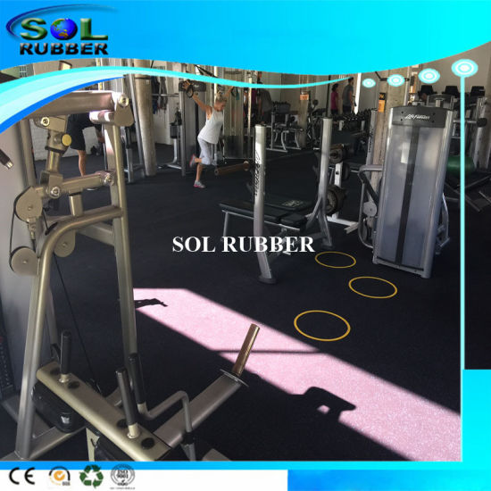 High Density Slip Resistant Commercial Rubber Gym Flooring pictures & photos