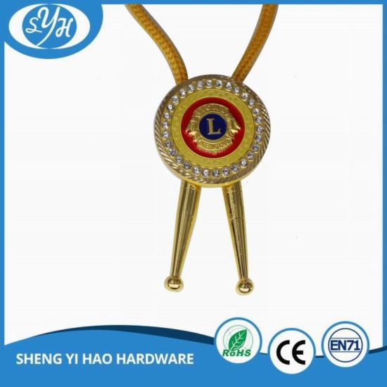 Die-Casting Gold Plating Enamel Souvenir Medal with Ribbon pictures & photos