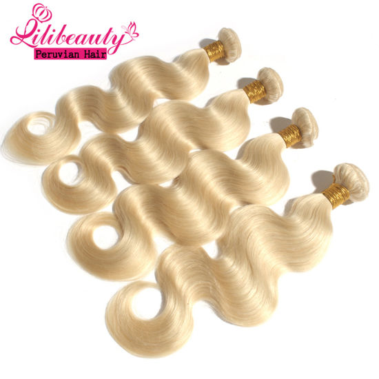 Fast Shipping Body Wave Virgin Peruvian Weave Blonde Hair pictures & photos
