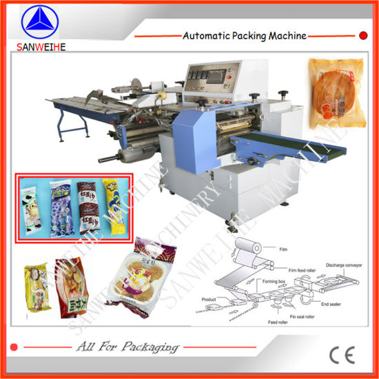 Film Feeding From Below Type Ice Lolly Automatic Horizontal Flow Packing Machine pictures & photos