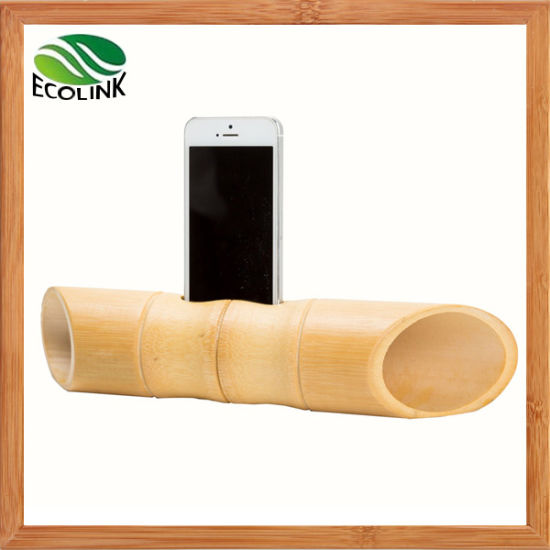Nature Bamboo Portable Mobile Phone Speaker for Samsung or iPhone pictures & photos