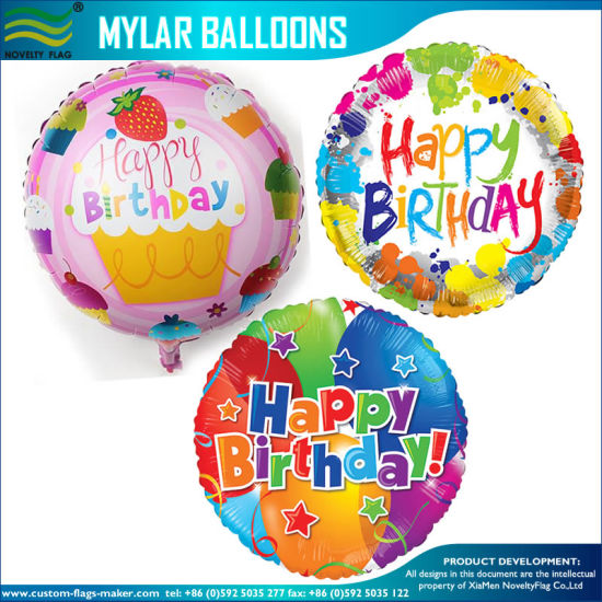 Personized Double Sided Printing Foil Mylar Hydrogen Balloons pictures & photos