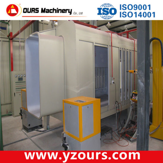 Automatic Powder Coating Booth for Aluminium Profiles pictures & photos