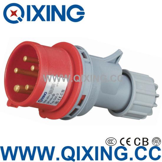 3poles 110V 16AMP Yellow IP44 Industrial Plug & Sockets (QX248)