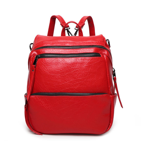 77a85a2d11 2016 Newest Fashion Women Leather Designer Backpack Bag pictures   photos