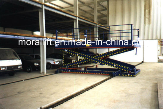 underground parking scissor car lift pictures & photos