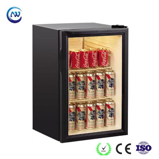 Commercial Glass Door Upright Mini Counertop Soft Drink Refrigerator (JGA-SC68)