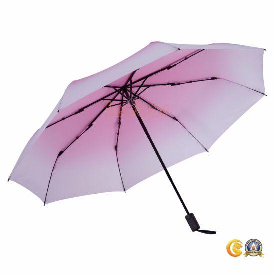 14b52a34e8c0 Manual Open Gift Gradient Foldable Wind Resistant Umbrella