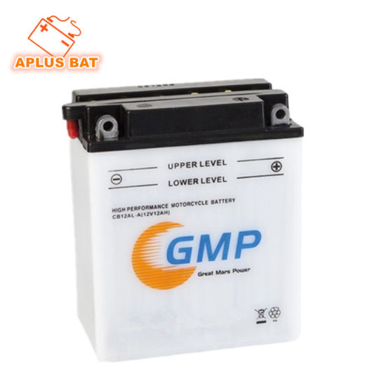 Wholesale 12V 12ah Motorcycle Battery in Flooded Rechargeable Type Yb12A-a