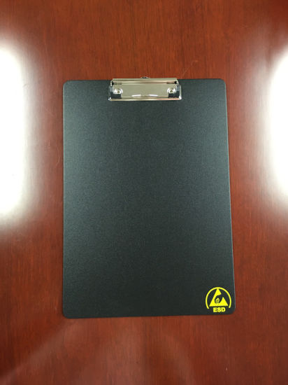 A4 Antistatic Plastic Balck Clip Board pictures & photos