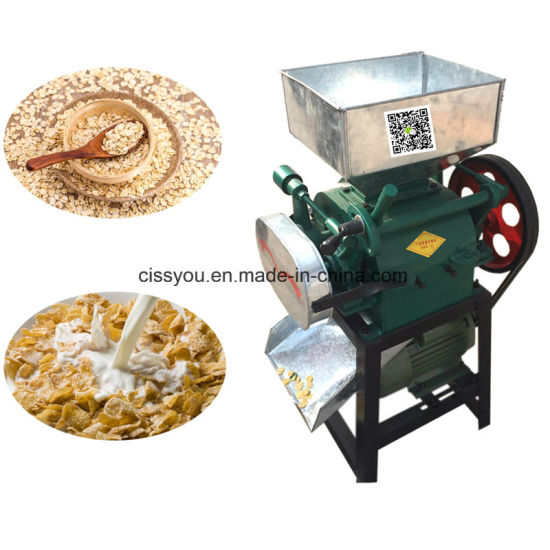 Instant Food Oat Beans Rice Corn Flakes Flaking Making Machine pictures & photos