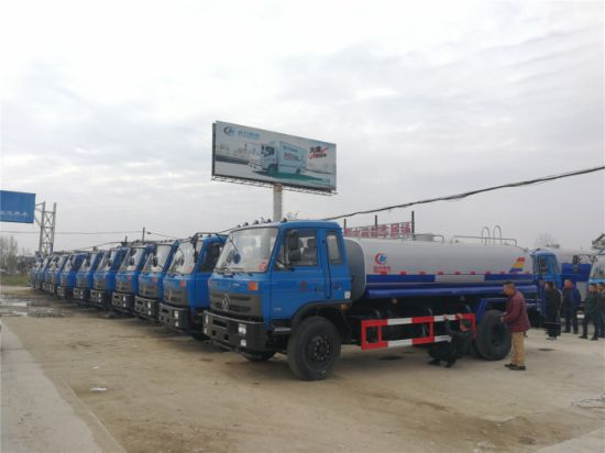 Dongfeng 145 and 153 Model 8m3 10m3 12m3 15m3 Water Truck for Sale