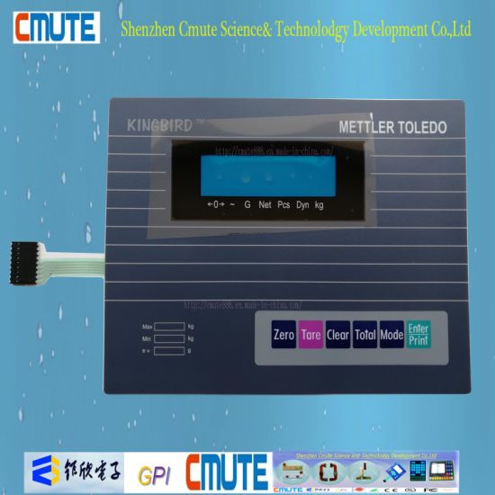 china pc 0 18mm overlay blue lcd window embossing membrane switch rh cmute888 en made in china com Mettler-Toledo Logo Mettler-Toledo Columbus OH