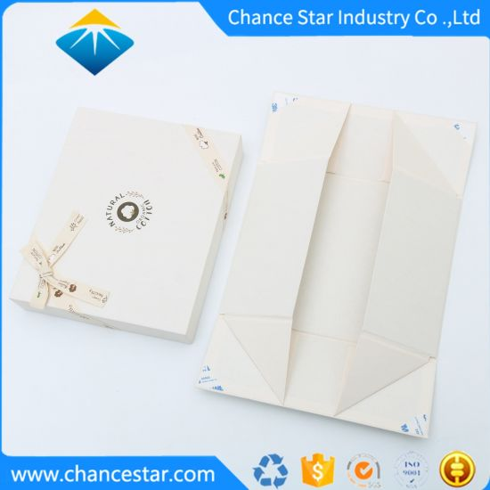 Custom Foldable Paper Cardboard Gift Box with Ribbon Bow