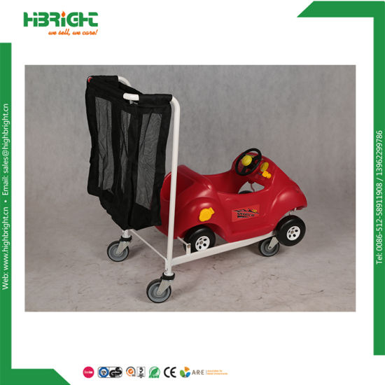 Supermarket Nestable Kids Shopping Cart with Mesh Bags pictures & photos