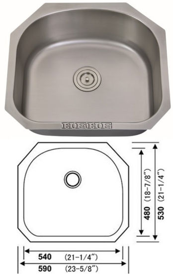 Stainlesss Steel Undmount Single Bowl Kitchen Sink pictures & photos