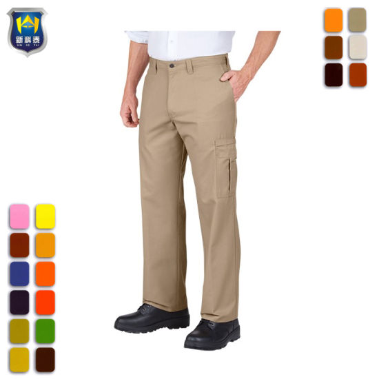 Polycotton cargo trousers