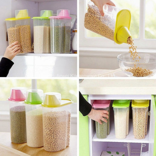 China Custom Kitchen Food Grain Bean Rice Storage Container Box