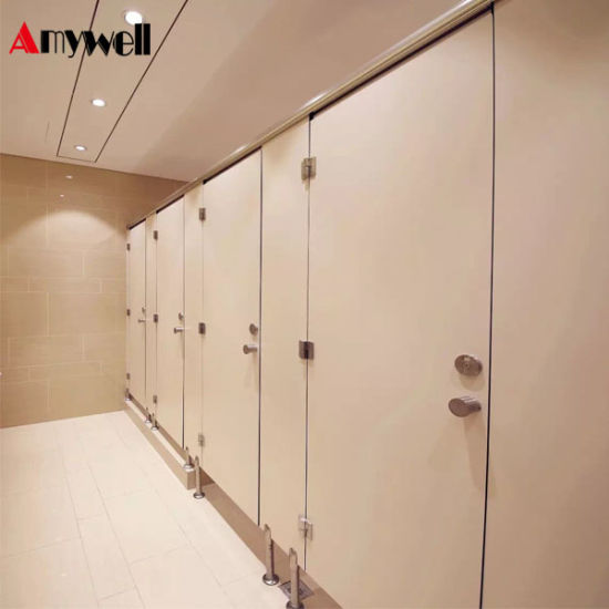 Amywell Wearproof Formica Sheets Toilet Cubicles HPL Used Bathroom  Partitions