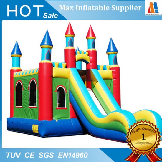 Party Rental Toy Inflatable Tarpaulin Slide with Pool pictures & photos