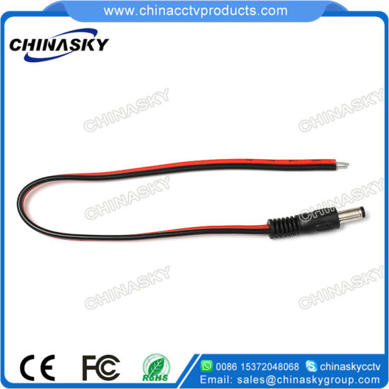100 Pieces Red Black Male DC Power Pigtails CCTV Camera DVR Adapter Plug Lead