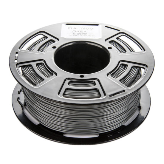 PLA 3D Printer Filament 1.75mm 1kg spool 2.2 pounds Dimensional Accuracy +/- 0.05 mm (Grey) pictures & photos
