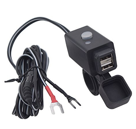Motorcycle USB Phone Charger Adapter with Power Switch