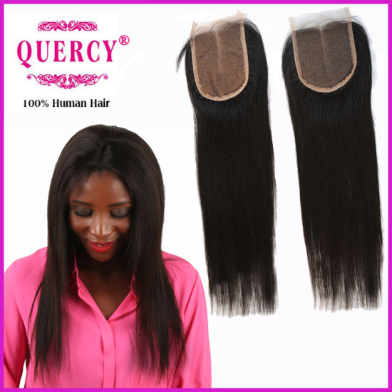 Brazilian Virgin Remy Straight Hair Silk Top Lace Closure pictures & photos