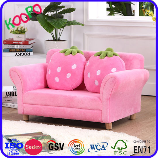 China Hot Sale Double Seat Strawberry Kids Furniture (SXBB-281-3 ...