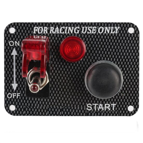 BLUE 2 POSITION ROCKER SWITCH LASER ETCHED 12V MOMENTARY PUSH TO START OFFROAD