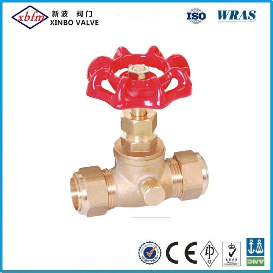 Brass Compression Stop Valve with Drain Waste pictures & photos