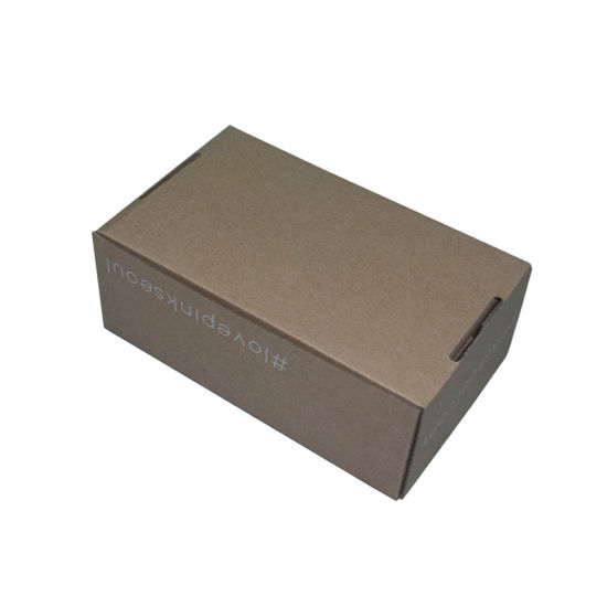 Custom Printed Corrugated Box Brown Corrugated Packing Box Without Glue pictures & photos