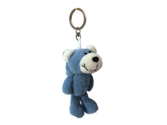 Wholesale Cheap Promotion Bulk Custom Logo Mini Animal Toy Plush Keychain Low MOQ Kids Backpack Bag Soft Stuffed Plush Keychain